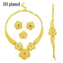 Dubai Jewelry Set Gold Color Nigerian Wedding African Jewelry Set for Wo... - $24.36