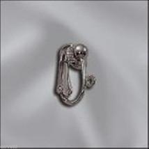 Gun Metal Clip-On Earring Finding w/ Open Loop & 4mm Half Ball (2) 1 Pair - $1.41