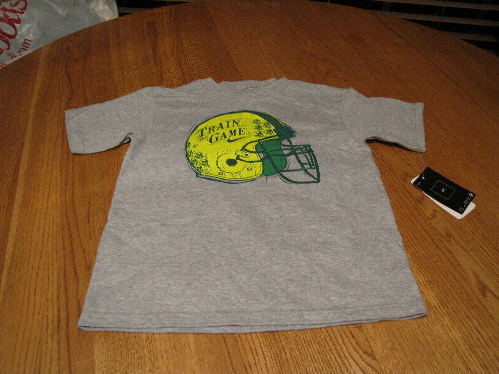 Boy's Nike youth helmet logo grey heather 2T Train the game football T shirt NEW