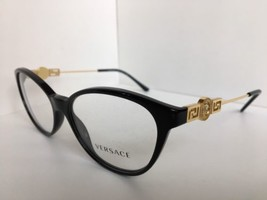 New Versace Mod. 1532 Black 54mm Cats Eye Women's Eyeglasses Frame Italy  - $199.99