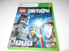 XBOX 360- LEGO DIMENSIONS VIDEO GAME W/CASE & BOOKLET   - USED- W44 - $12.69