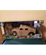 "GI Jo World Peacekeepers Military Desert Humvee Set ATV 1/18 3 3/4"" - $35.99"