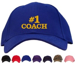 #1 Coach Embroidered Baseball Cap - Available in 7 Colors - Hat - $24.48