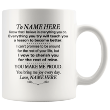 Personalized 11oz Coffee Mug To My Daughter, Granddaughter, Son, Grandson - $19.95