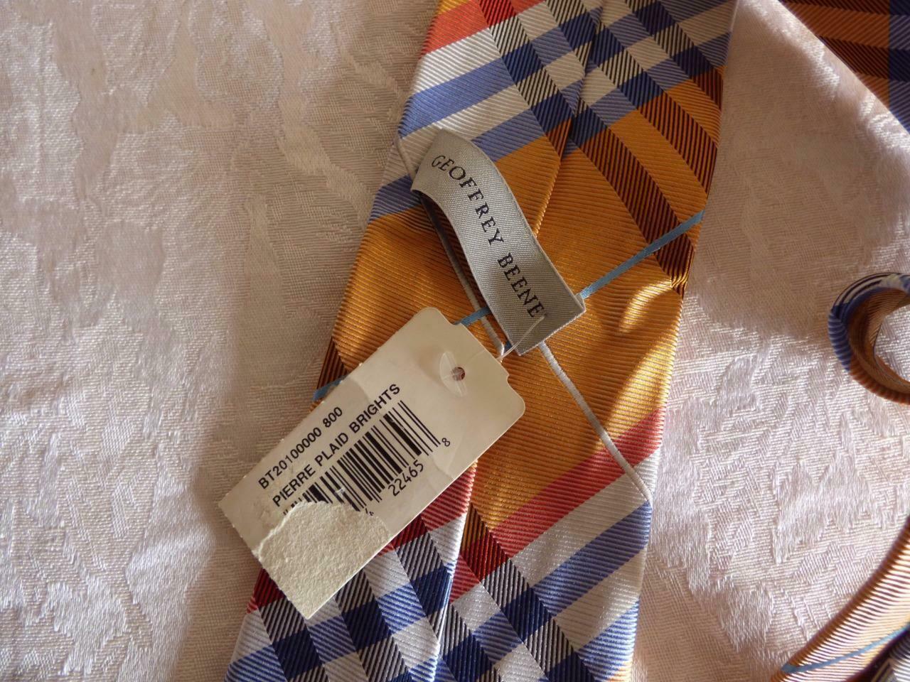 Geffrey Beene Pierre Plaid Brights Silk Necktie image 3