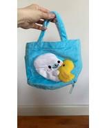 Mamegoma San-X LittleSeal Plush Blue Bag Shirogoma play with Duck Soft &... - $18.05