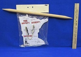 Paul Bunyan Toothpick Display Wooden w/ Outline of Minnesota Plaque Babe... - $15.98