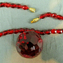 Vintage Lot of 5 AB Crystal Glass Bead Necklaces Clip Earrings red blue ... - $49.49