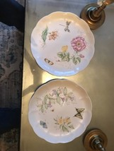 "Lenox Butterfly Meadow 10.75"" Dinner Plates SWALLOWTAIL & DRAGONFLY NEW - $24.70"