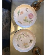 """Lenox Butterfly Meadow 10.75"""" Dinner Plates SWALLOWTAIL & DRAGONFLY NEW - $24.70"""