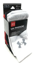 Under Armour Crew Socks 3 Pairs Boys Small 13.5-4Y UA Phenom Basketball ... - $18.81