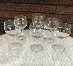 Lot of 6 Stemware Clear Glass Wine Goblets Mixed Not Marked Unmarked Gla... - $9.80