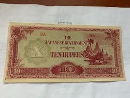 Japan Burma 10 rupees 1942 - $2.95