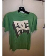 DC SHOES MEN'S GUYS KELLY GREEN DRIPPING WHITE LOGO T SHIRT TEE NEW $30 - $17.99