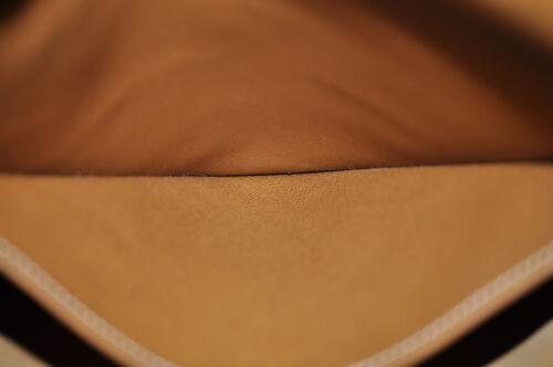 HERMES Christine Shoulder Bag Leather Brown Auth 5676 image 12