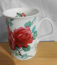 ROY KIRKHAM COFFEE MUG CUP ENGLISH ROSE 1992 ENGLAND BONE CHINA ROSES PI... - $16.79