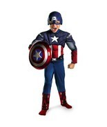Halloween Captain America Child Costume Comic Kids Boys Superhero Muscle... - €33,88 EUR