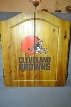 Cleveland Browns Dart Board Cabinet Set Imperial [UNUSED] - $89.00
