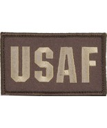 AIR FORCE USAF 2 X 3  EMBROIDERED BROWN  MILITARY PATCH WITH HOOK LOOP - $15.33