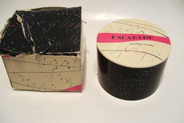 Vintage Shulton Escapade Dusting Powder and Puff Sealed and Full Never Used - $49.99
