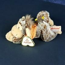 "Aurora Mini Plush Cheeky Charlie Monkey Banana Tail Tags 7"" Hangs Stuffed #A14 - $15.83"