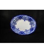 Vintage John Maddock & Sons Royal Vitreous English Flow Blue Vegetable Dish - $48.51