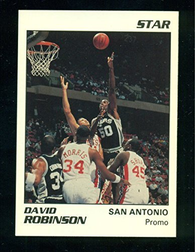 1990 Star David Robinson San Antonio Spurs WHITE Promo - Very Limited - Basketba