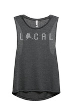 Thread Tank Local Alaska State Women's Sleeveless Muscle Tank Top Tee Charcoal G - $24.99+