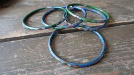 "Lot of 5 2.5"" Antique Cloisonne Bangle Bracelets - $58.41"