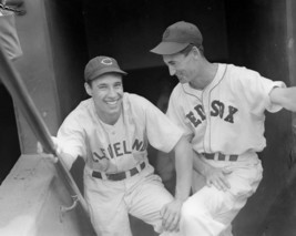 BOB FELLER & TED WILLIAMS 8X10 PHOTO CLEVELAND INDIANS RED SOX BASEBALL ... - $3.95