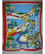 Cotton Tea Towel The Flower Cart - $11.38