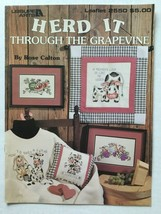 Leisure Arts Herd It Through The Grapevine Rose Calton Counted Cross Sti... - $5.93