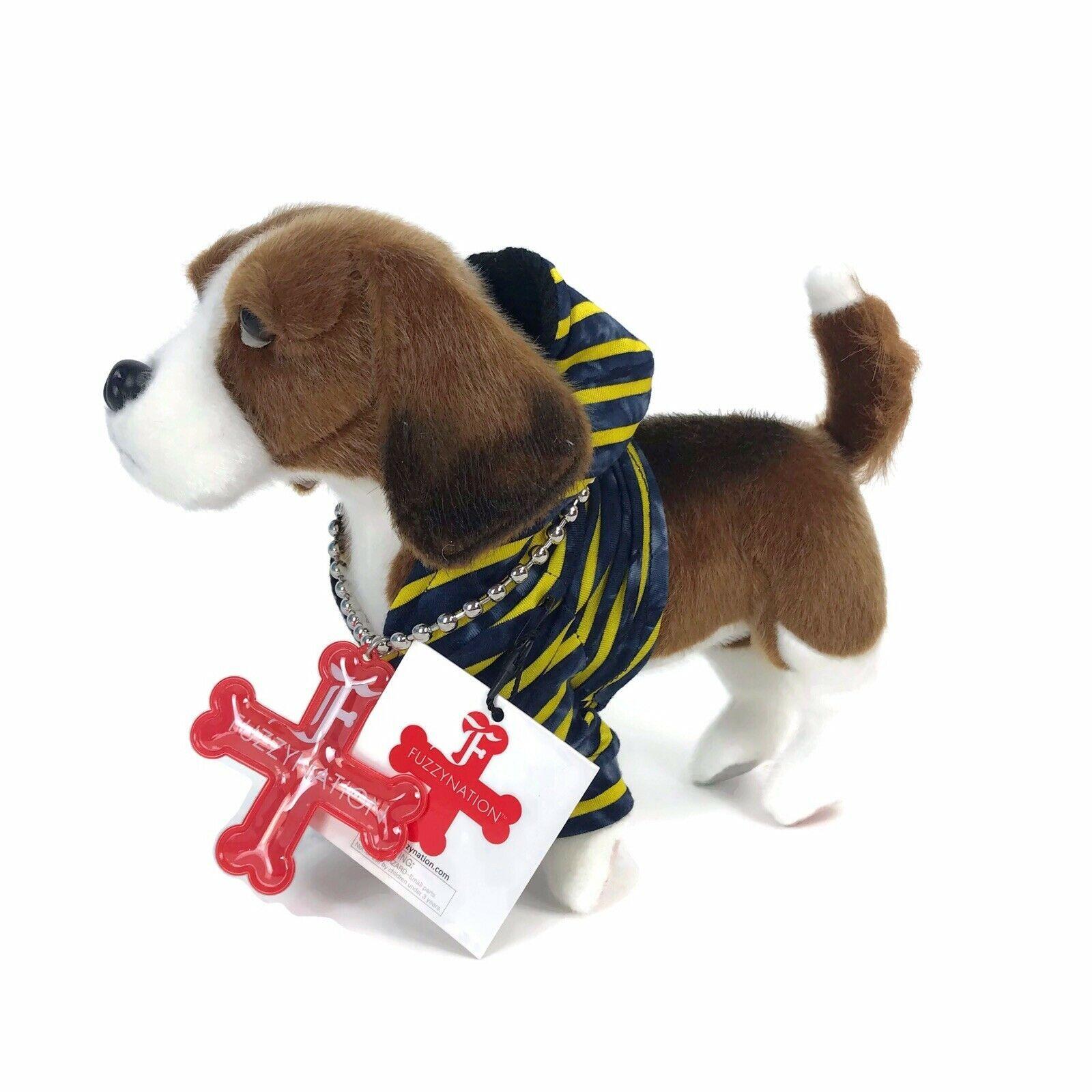 Manhattan Toy Fuzzy Nation Plush Dog Atticus Beagle Dressed Plush Stuffed Animal - $14.45