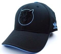 Charlotte Bobcats Adidas TY13Z NBA  Basketball Team Logo Blackout Cap Hat - $21.99