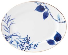 "Kate Spade Birch Way Indigo Blue 13"" Oval Serving Food Platter  - £113.59 GBP"