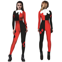 Women Adult Halloween Digital Printed Clown Costume Jumpsuit - $24.06