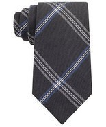 Calvin Klein Men's Silk Viscose Blend Necktie, Black Wash Denim F, Black - $31.03 CAD