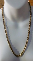 Vintage Trifari TM Gold-tone & Black Seed Bead Chain Necklace  - $49.01