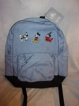 DISNEY PARKS MICKEY MOUSE THROUGH THE YEARS BLUE BACKPACK BRAND NEW W/T - $29.99