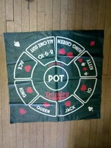 Vintage 1957 Cadaco Tripoley Card Game Playing Mat Only Replacement Piece  - $34.64