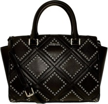 New! Michael Kors Diamond Grommet Selma Top Zip Satchel - $296.88
