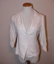 Forever 21 White Blazer Jacket Button  Womens Size M th - $14.99