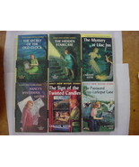 Nancy Drew 6 Lot Mystery Books nos.1, 2, 4, 8, 9, 10 Yellow Spine Pictur... - $16.00