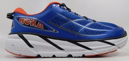 Hoka One One Clifton 2 Men's Running Shoes Size US 9.5 M (D) EU 43 1/3 Blue Red