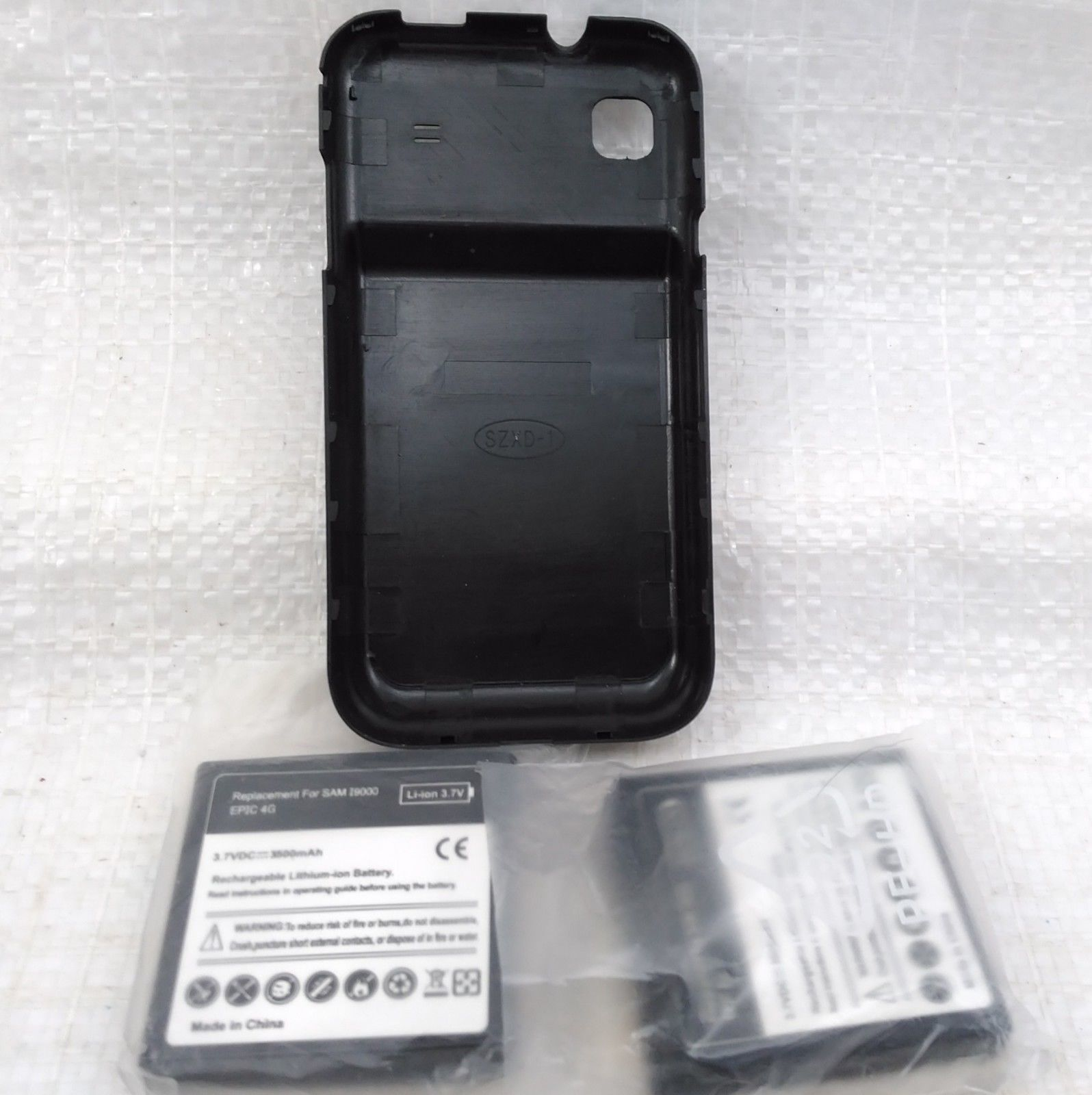 2 x 3500mAh Extended Batteries Sph D700 and Cover Samsung 19000 Galaxy S
