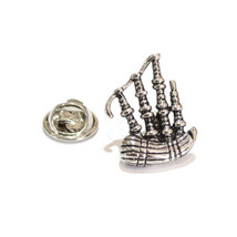 Bagpipes Scottish Music pin badge, Lapel Pin Badge / tie pin. in gift box silver