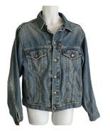Vintage LEVIS Men's Size Medium  Blue Denim Button Up Trucker Jean Jacket 70507  - $46.40