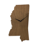 Mississippi State Shaped Wood Grain Wall Clock Collection - $19.99