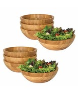 Lipper International Bamboo Small Strong Salad Wooden Serving Bowls, 4 P... - $73.66