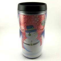 STARBUCKS COFFEE COMPANY 2005 8 oz Travel Tumbler Snowmen Christmas LUCY... - $23.86